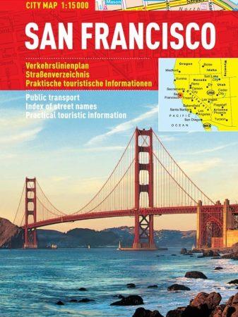 San Francisco -hartă turistică pliabilă
