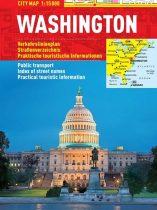 Washington -hartă turistică pliabilă