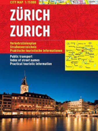 Zurich - hartă turistică pliabilă