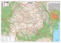 Hartă pliabilă România Rutieră + București Zona Centrală