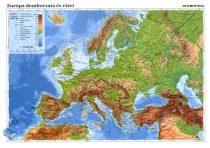 Európa domborzata + Európai Unió fixi tanulói munkalap- Relieful Europei+ Uniunea Europeană fișă de lucru fixi