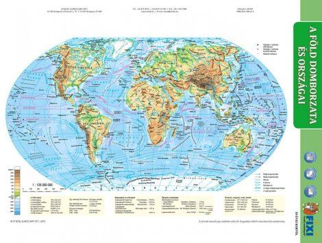 A Föld domborzata + Föld országai tanulói munkalap- Relieful pământului + Statele lumii fisă de studiu