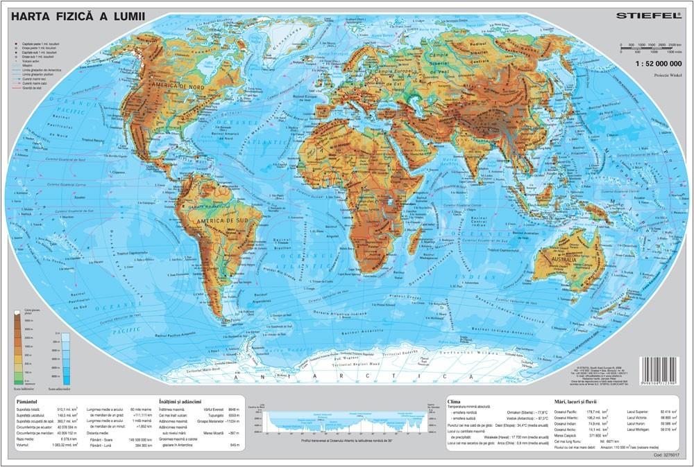 Mapa De Birou Lumea Fizica Stiefel Romania