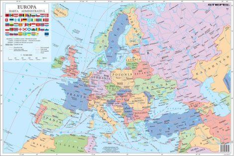 Mapa de birou - Europa Administrativa