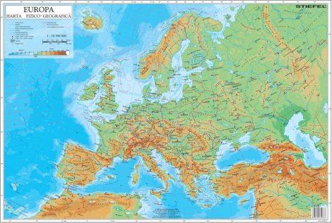 Mapa de birou - Europa Fizico-Geografica