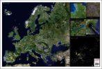Hartă de birou - Europa - Imagine din satelit