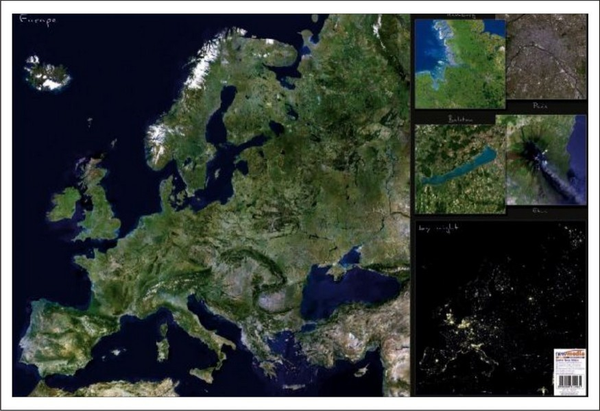 Mapa De Birou Europa Imagine Din Satelit Stiefel Romania