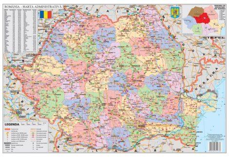Mapa de birou - Romania Administrativa