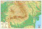 Hartă de birou - România Fizico-Geografică