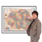 Harta Romania Interbelica in rama de aluminiu