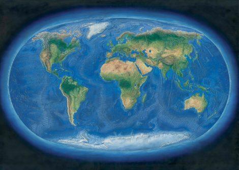 Hartă de perete Lumea Panoramică