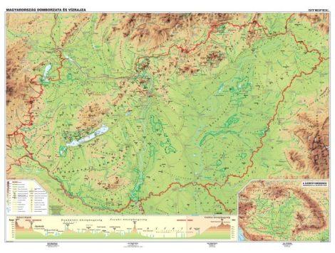 Harta fizico-geografică  a Ungariei - șipci de lemn