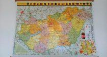 Harta Ungaria Politica - Rutiera sipci de lemn 140 x 100 cm