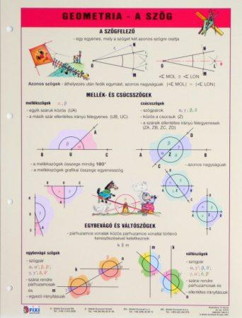 Geometrie - Unghiuri  - planșă de perete
