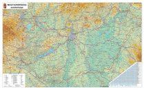 Hartă Ungaria Rutieră- șipci de lemn 140 x 100 cm