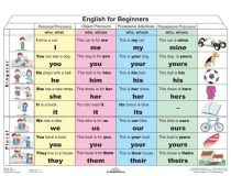 English for Beginners  - plansa de perete