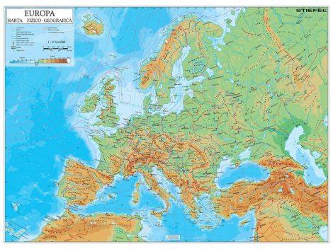 Harta de perete Europa Fizico-Geografica