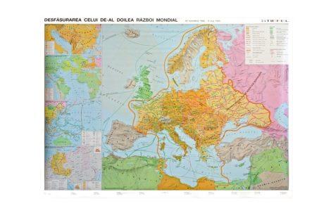 Al doilea Razboi Mondial - Harta de perete