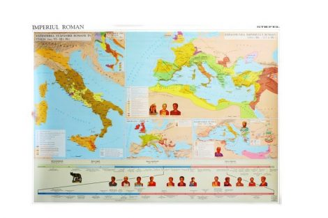 Imperul Roman - Hartă de perete