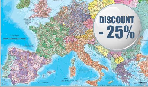 Promotie harta Europa Coduri Postale
